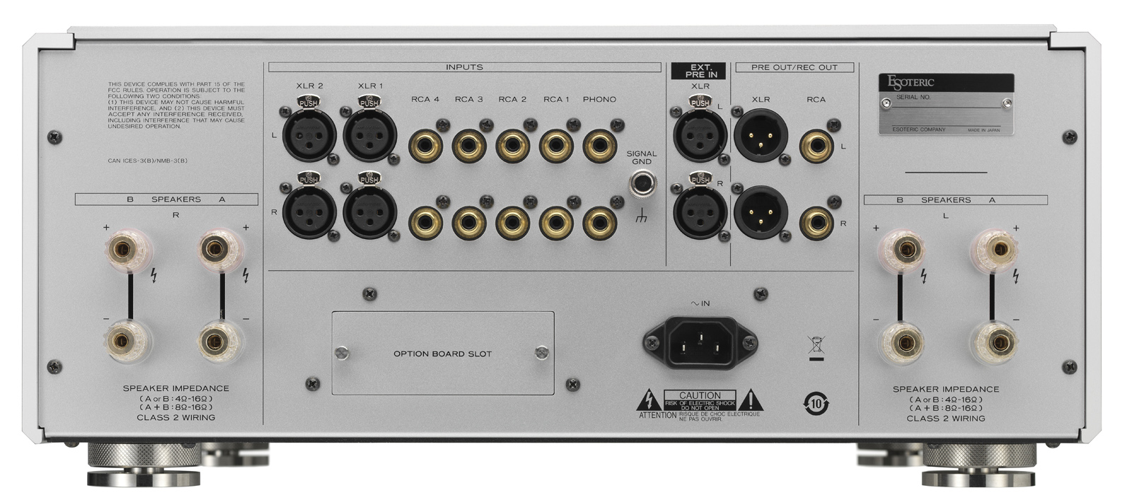 Esoteric F-03A Integrated Amplifier Made In Japan F-03a_rear