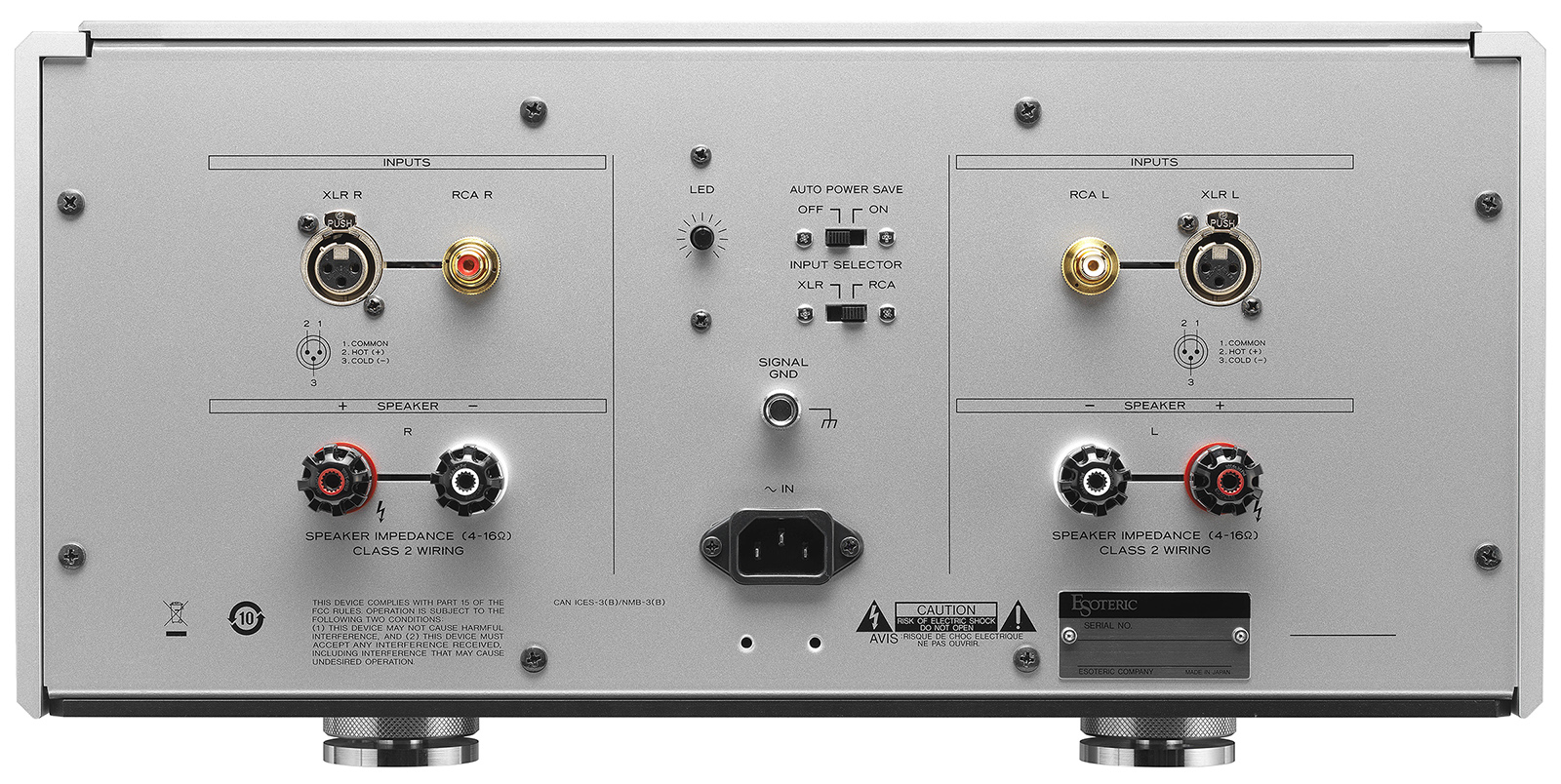 Esoteric S-02 Stereo Power Amplifier Made In Japan S-02_rear